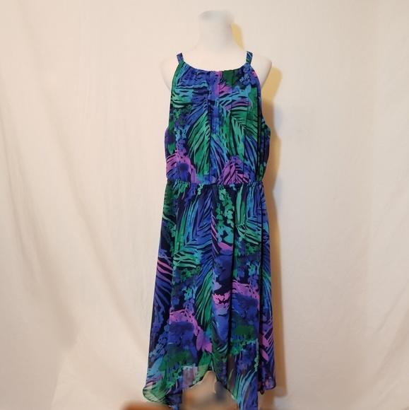 6fe38d6576f56 Lane Bryant Dresses & Skirts - Lane Bryant Sleeveless Tropical Print Dress